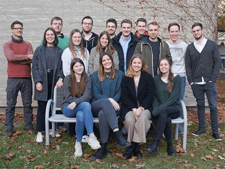 Gruppenbild der Journalismus-Studierenden aus der Lehrredaktion Terrabyte.
